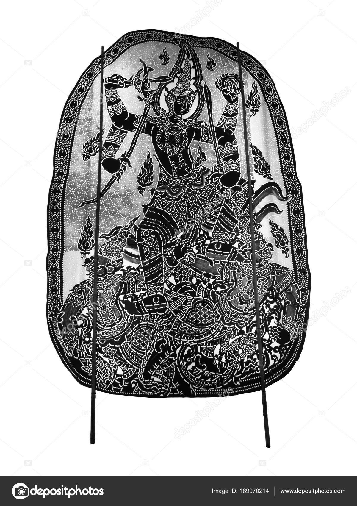Thai antigua sombras chinescas - marionetas de la sombra