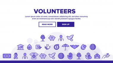 Volunteers, Charity Vector Thin Line Icons Set. Volunteering, Charitable Organizations Logo Linear Pictograms. Donations, Humanitarian Aid, Peace-Keeping Missions Symbols Contour Illustrations icon