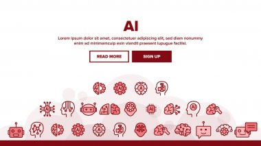 Artificial Intelligence Elements Vector Icons Set
