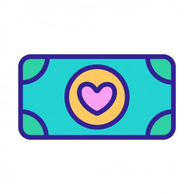 Donating money to the icon vector. Thin line sign. Isolated contour symbol illustration icon