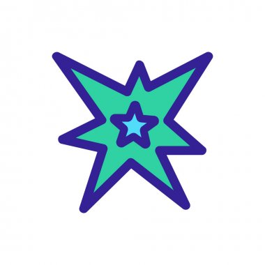 Star shining glitter icon vector. Isolated contour symbol illustration