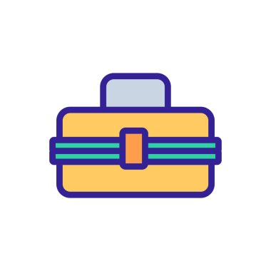 Lunchbox icon vector. Isolated contour symbol illustration