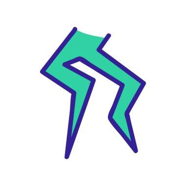 Lightning icon vector. Thin line sign. Isolated contour symbol illustration icon