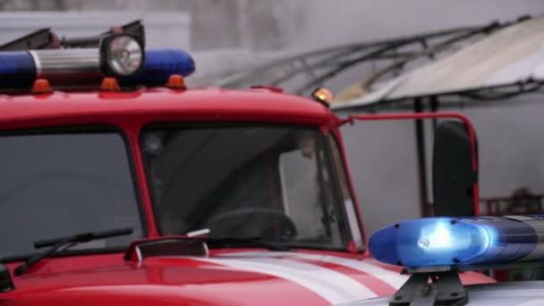 Kabina hasičského vozu