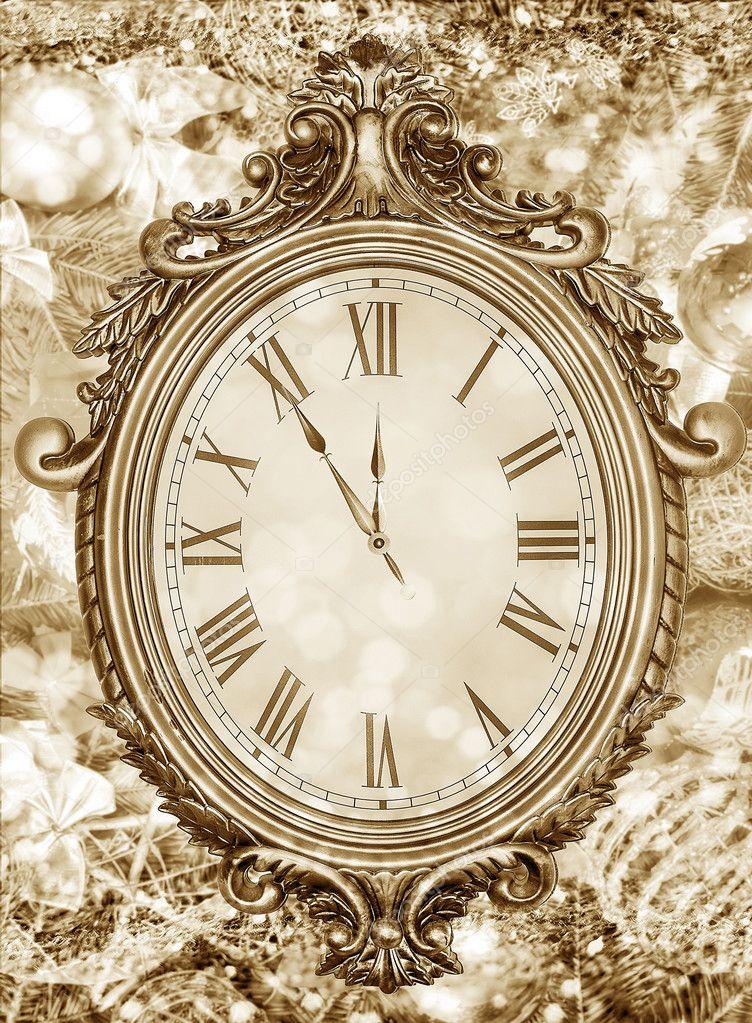 New years clock. — Stock Photo © believeinme #125412256