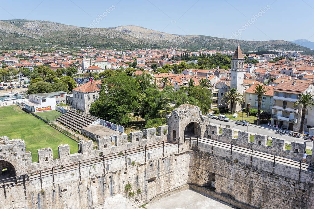 View of the town from the fortress of the city of Trogir.