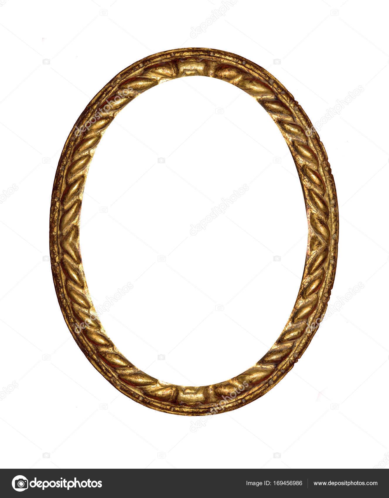 Runde Antik gold Bilderrahmen — Stockfoto © believeinme #169456986