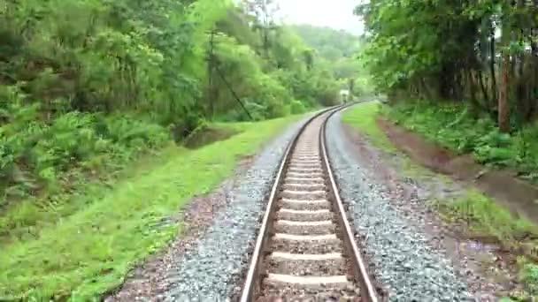 4k, krásné přírody pohled vidět formulář vlak pass