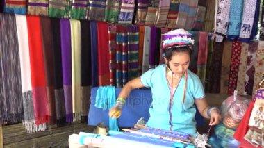 Long Neck Karen Tribal Weaving.