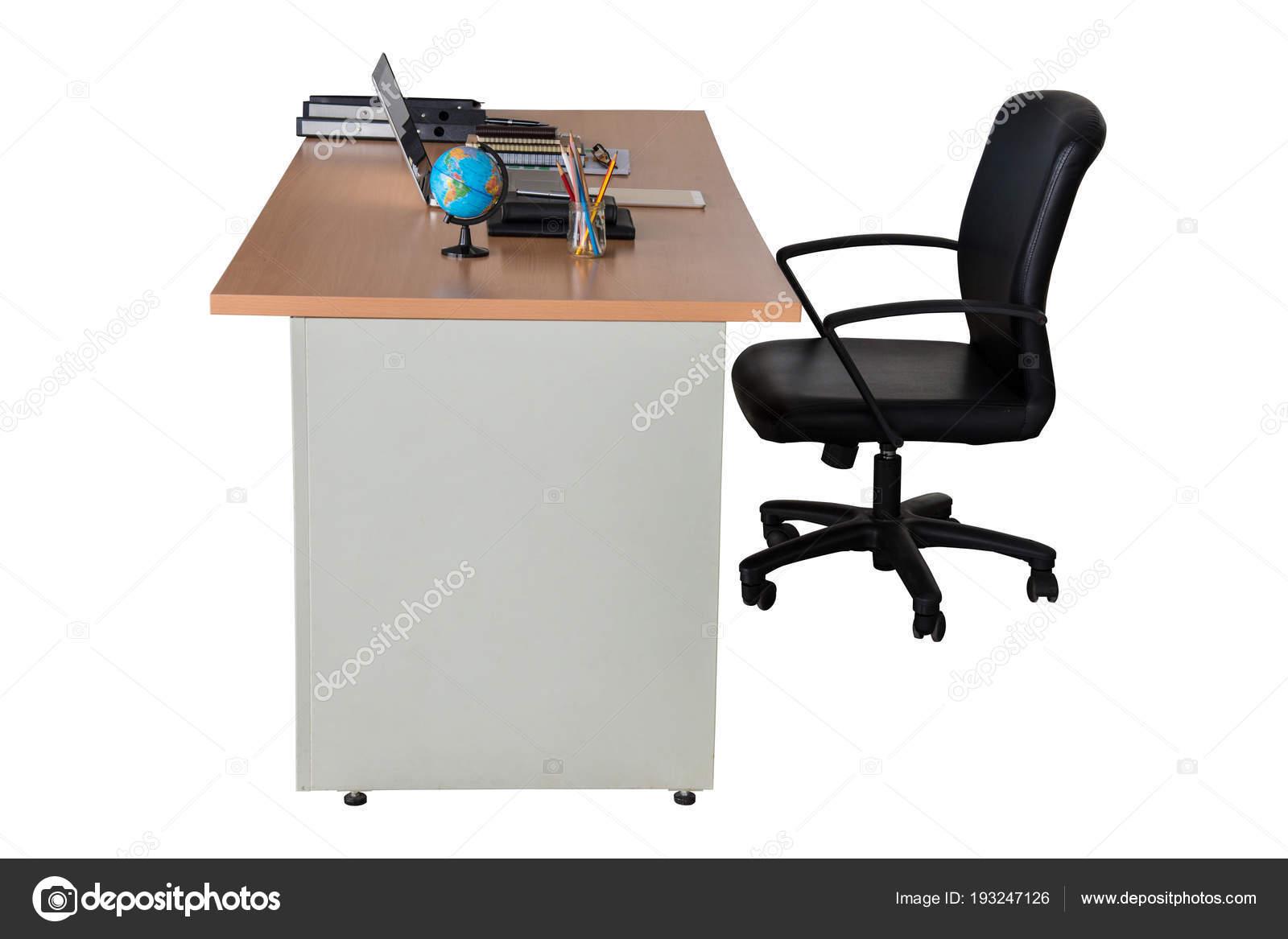 Houten Bureau Kantoor : Houten kantoor bureau tafel u stockfoto nuwatphoto
