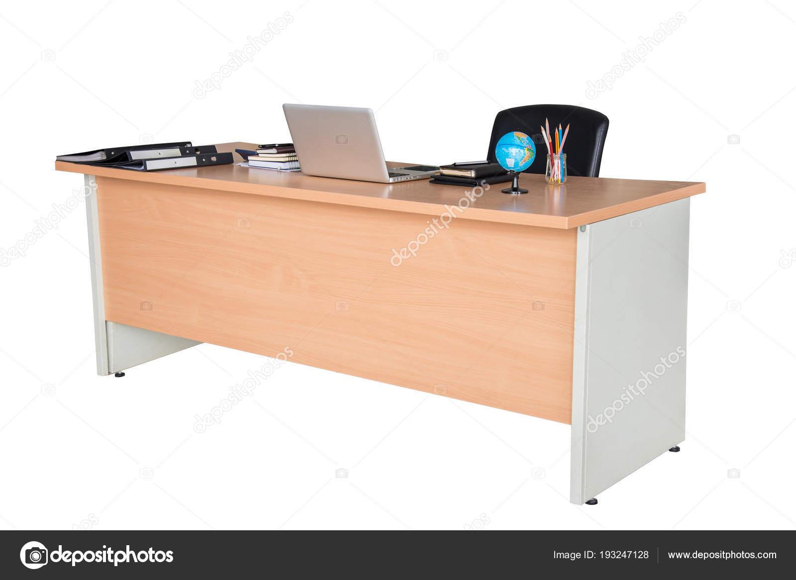 Scrivanie Ufficio In Legno : Tavolo scrivania ufficio in legno u foto stock nuwatphoto