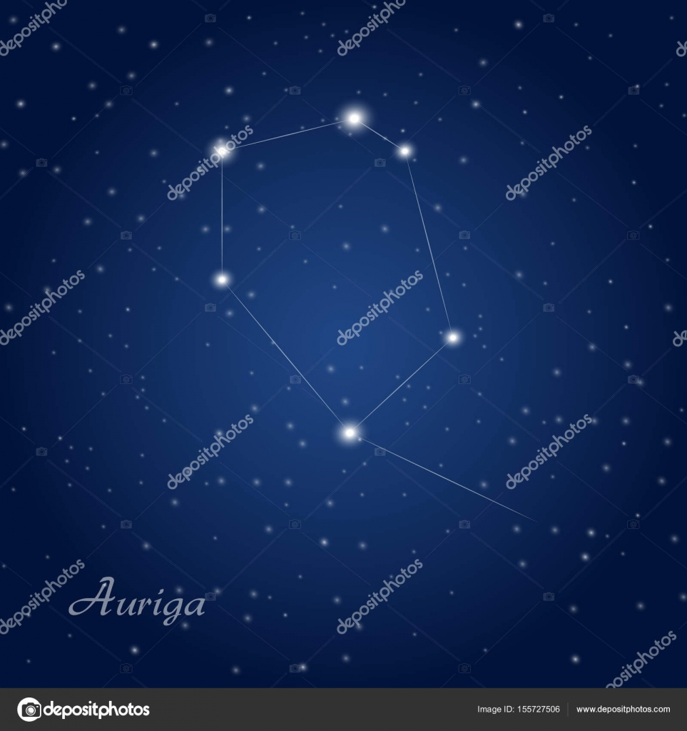 Auriga constellation at sky — ...