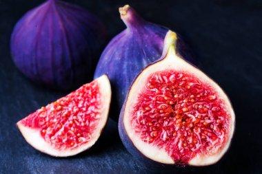 purple Sliced Fresh figs
