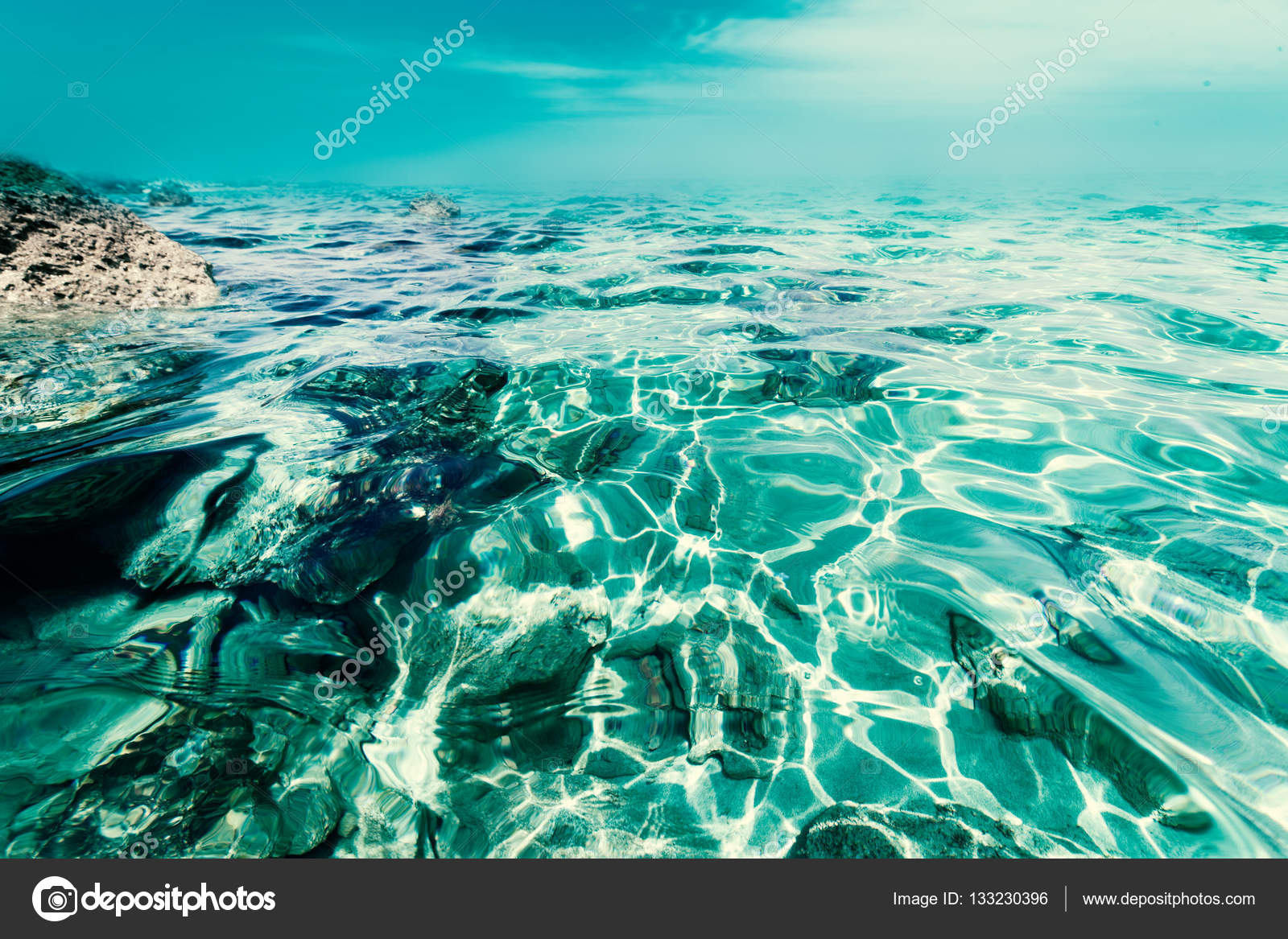 natural tropical water paradise background. — stock photo