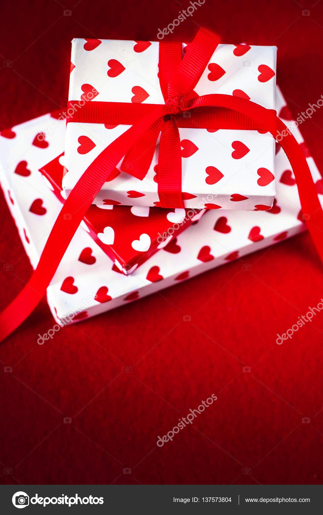 Valentines Day Presents With Hearts Stock Photo C Zakharova 137573804
