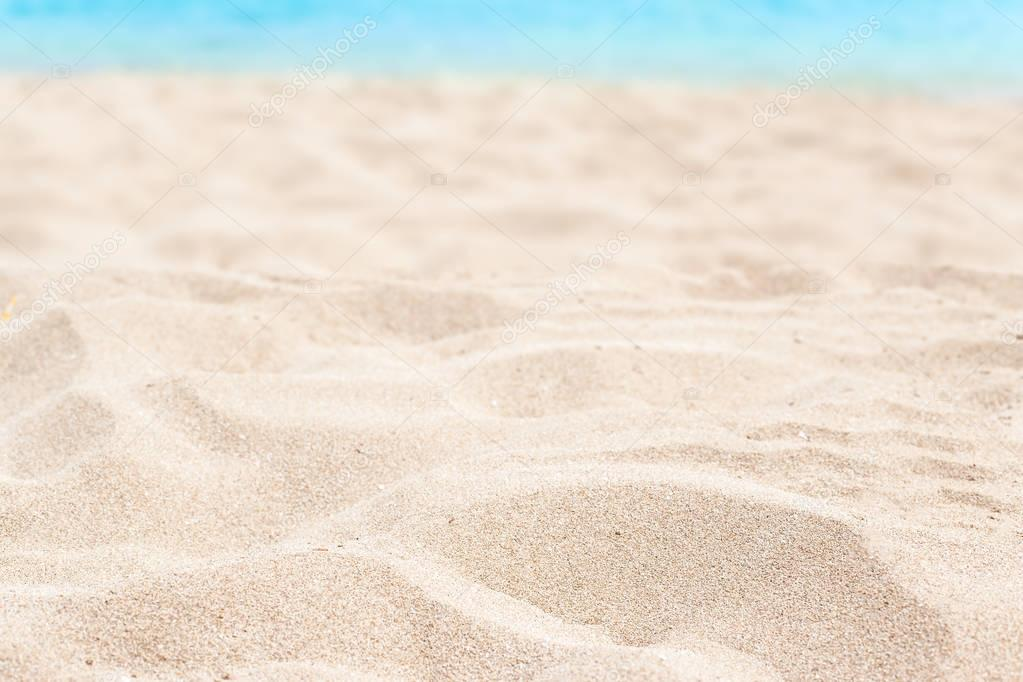 hot soft sand on seashore