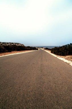 Black Asphalt road  landscape