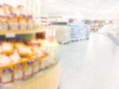 Supermarket store blur background