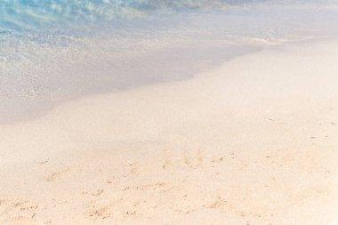 Beach sand with sky