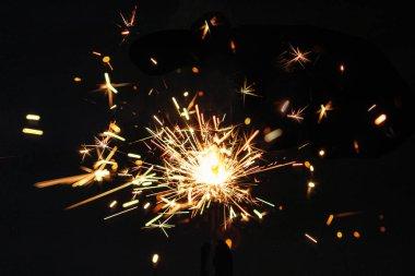 Christmas glittering  sparkler