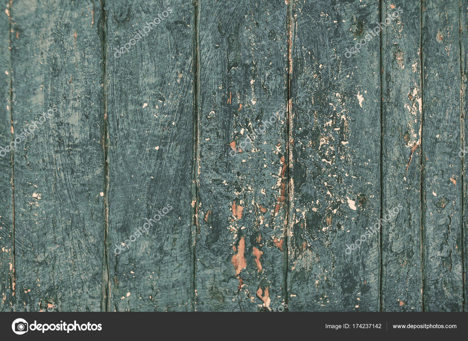 Rustic Beach Wood Background Vintage Blue Color Wooden Textured Planks Stock Photo