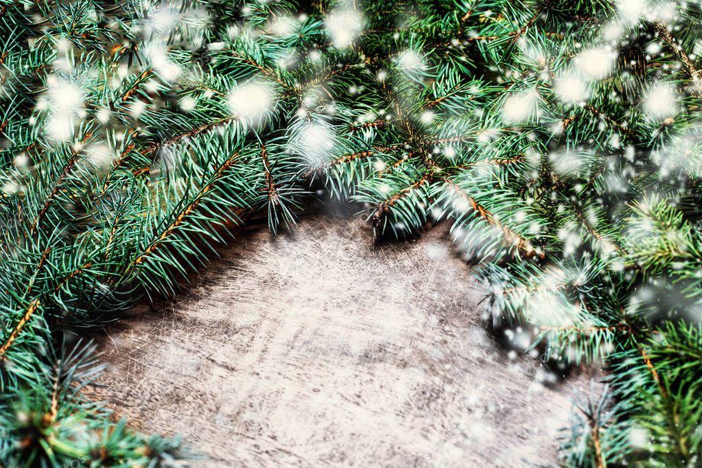 Vintage fondo navidad con ramas abeto verde adornos for Adornos navidenos 2017 trackid sp 006
