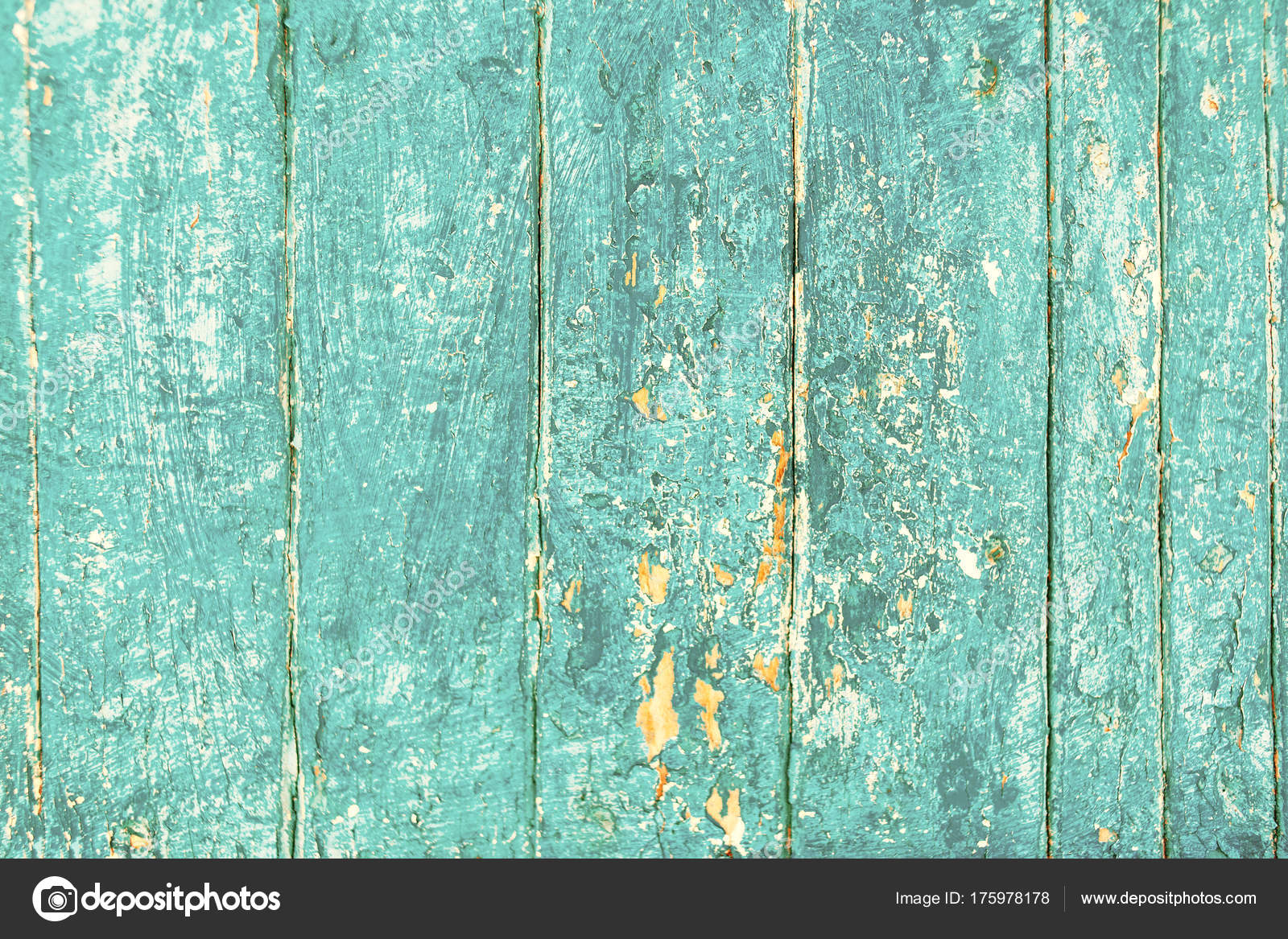 Shabby Vintage Blue Color Wooden Textured Planks Rustic Surface Old Stock Photo