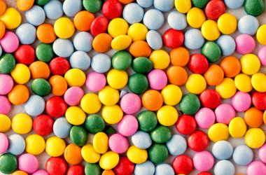 Colorful  candy pattern background. Different Small colored cand