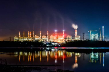 Thermal power plant from coal, Mae Moh, Lampang, Thailand.