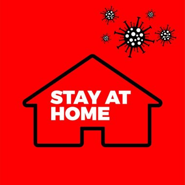 stay at home from coronavirus stop virus pandemic epidemic stay at home