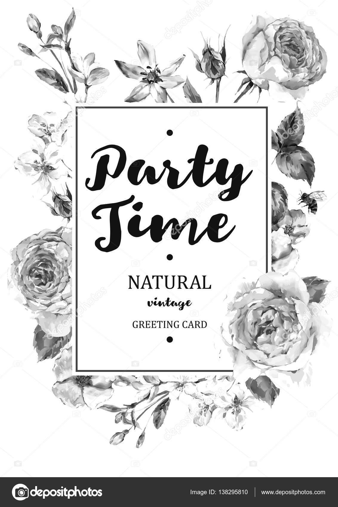 Tarjeta de vector de marco vertical con rosas flor inglés — Vector ...