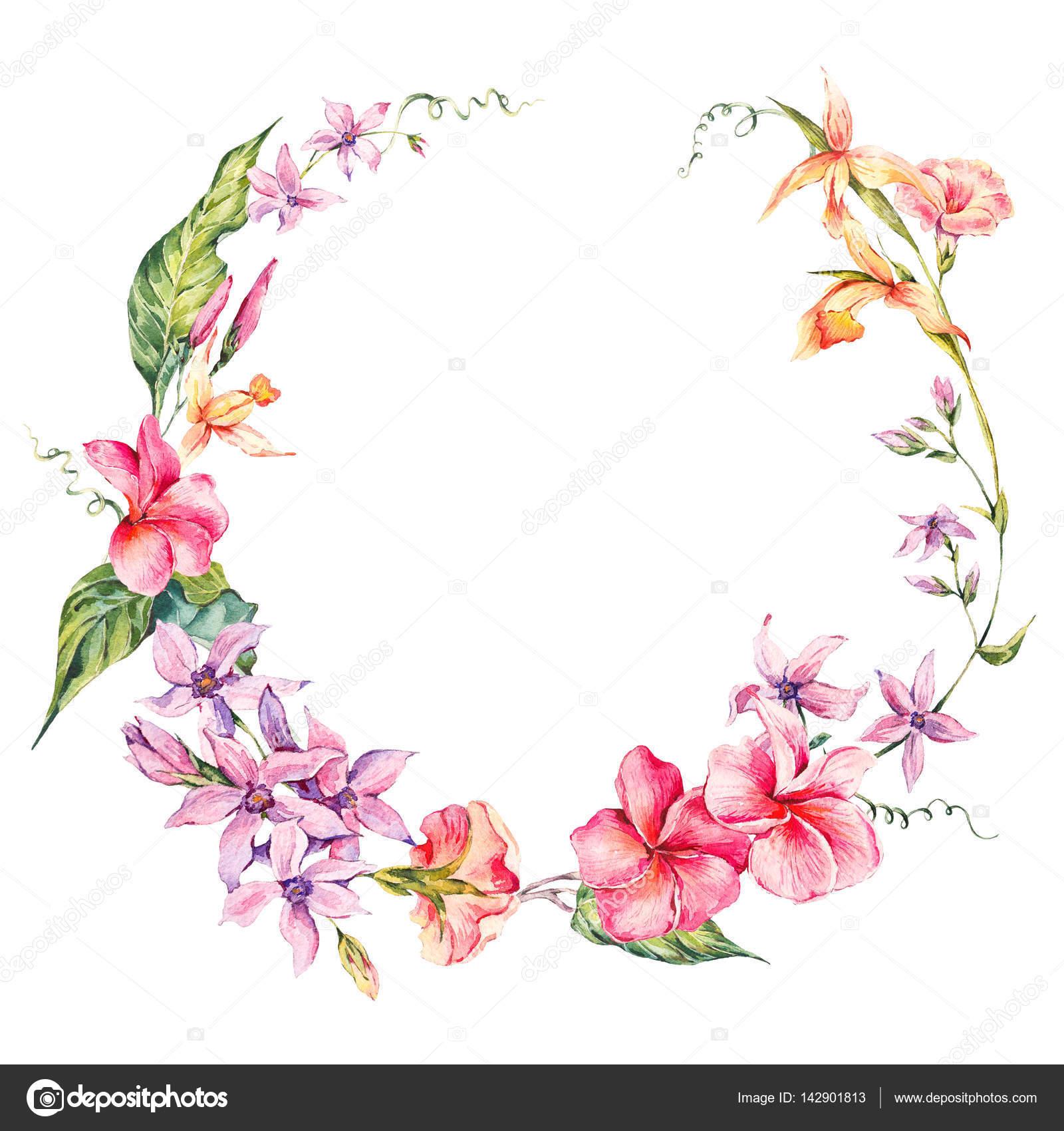 Рамка из цветов круглая