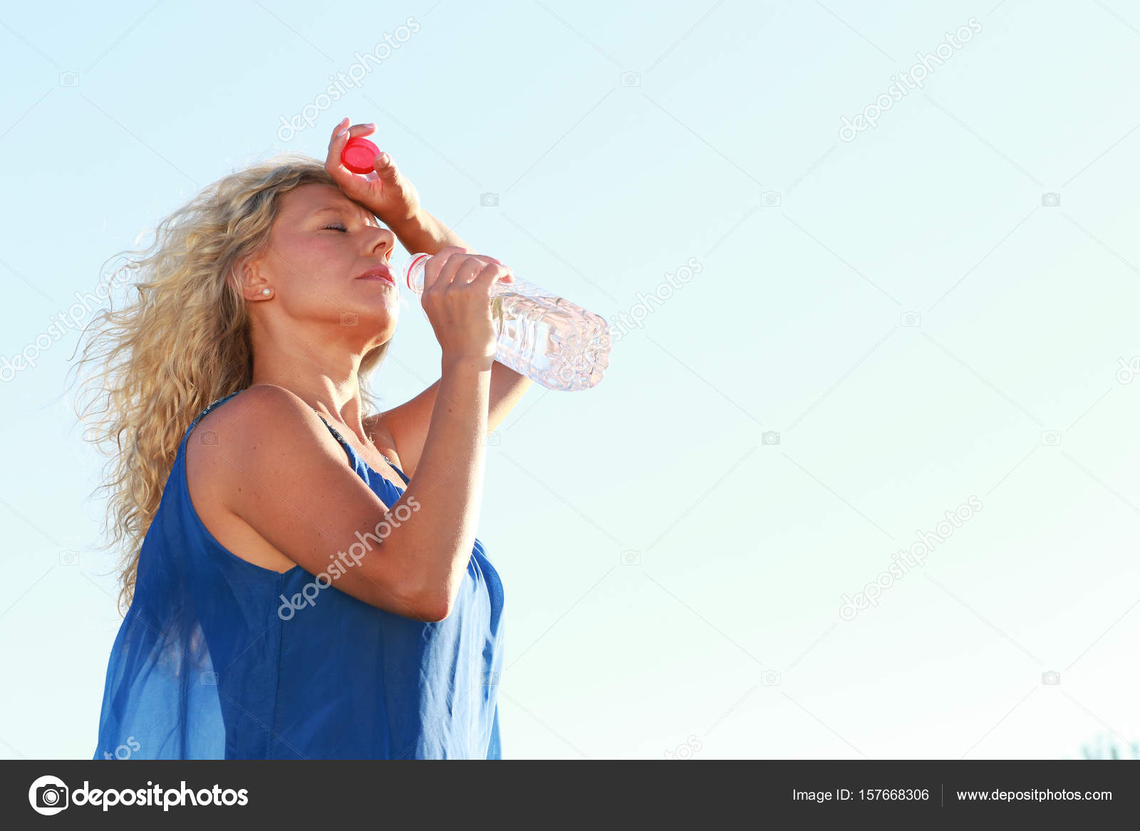 Pubescent Model Mature Women In Water