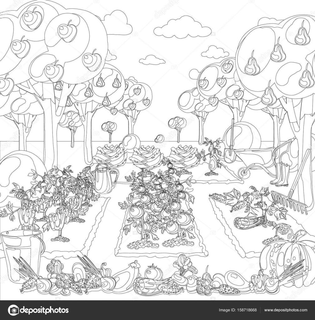 Disegno giardino da colorare fate da colorare macro c 39 for Disegno giardini