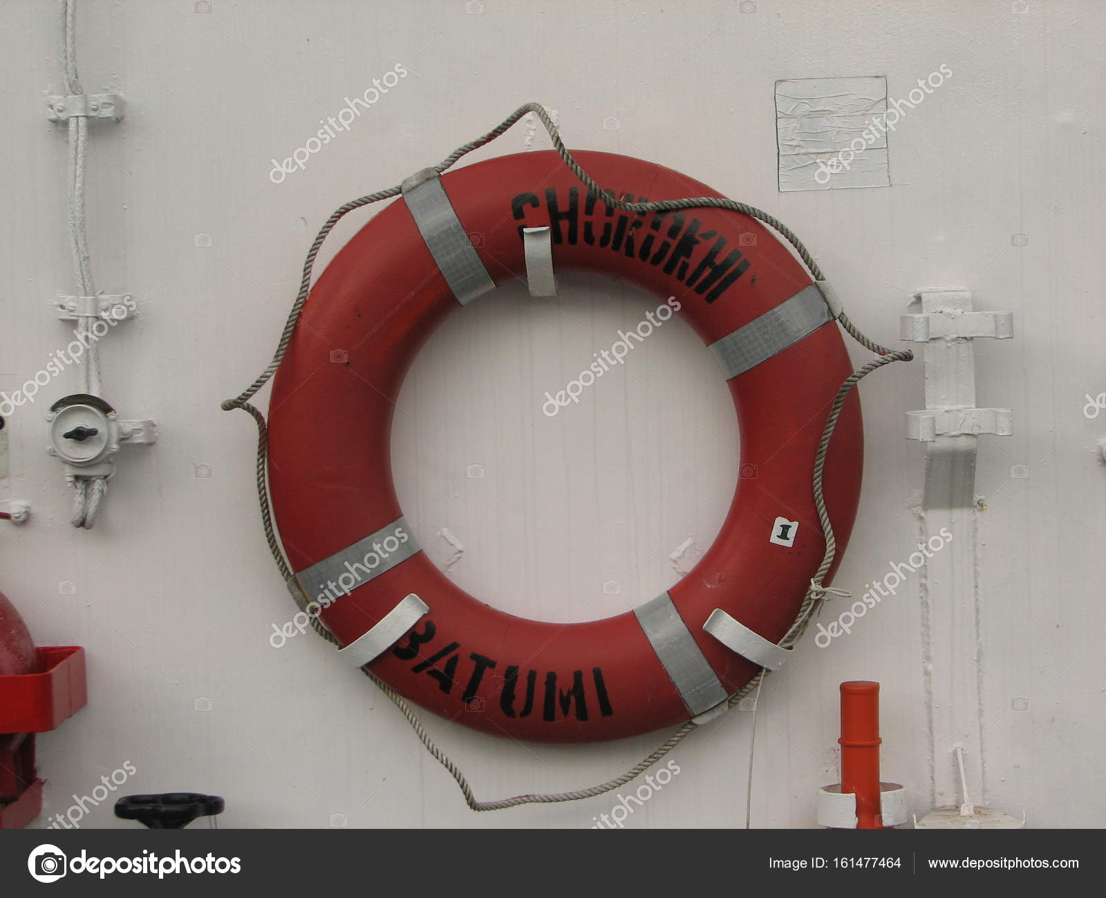 ring life buoys on white boat stock photo mamziolzi 161477464