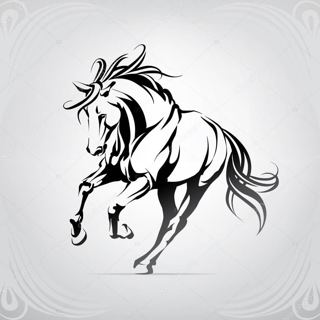 Vector Silhouette Of A Running Horse Premium Vector In Adobe Illustrator Ai Ai Format Encapsulated Postscript Eps Eps Format