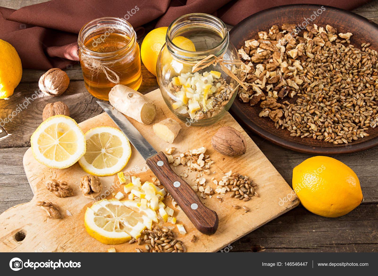Рецепт диеты: сода, лимон и мед — стоковое фото © creativefamily.