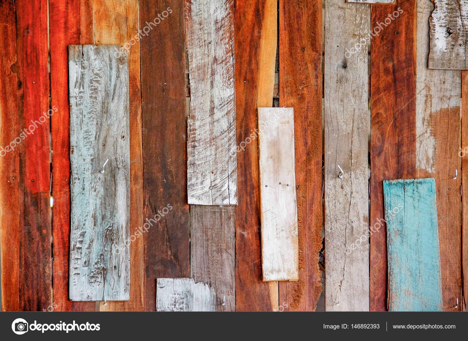 Alte Kunst Bunte Holz Wand Stockfoto Chartcameraman 146892393