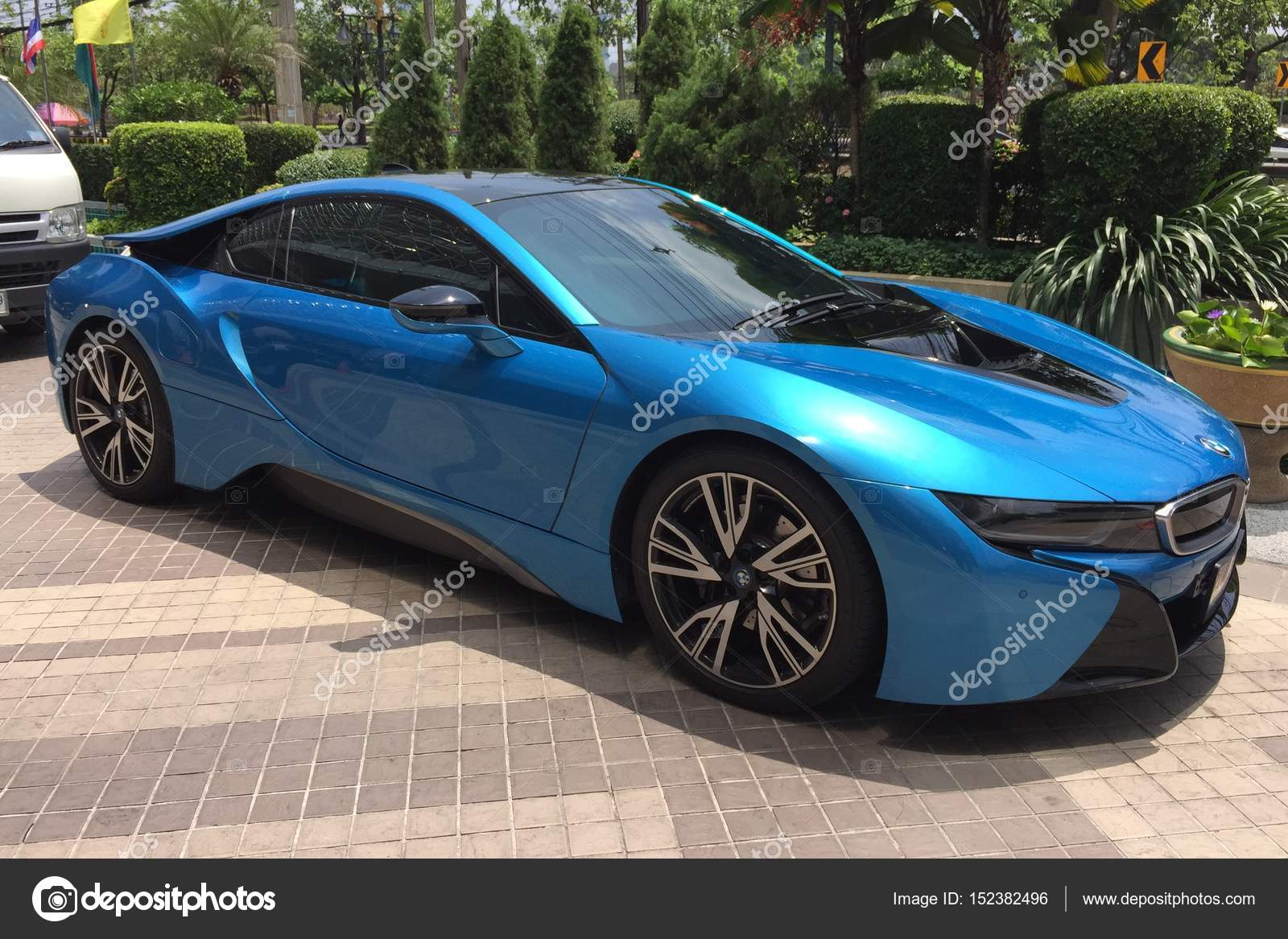 Bmw I8 Concepto Electrico Vehiculo Coche En La Carretera Foto