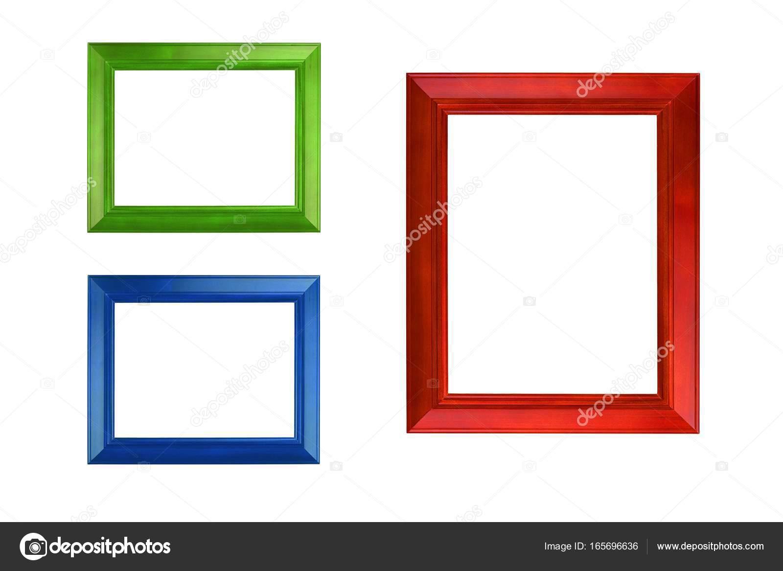Bunte Bilderrahmen zu isolieren, auf weiß — Stockfoto © ztudiototo ...