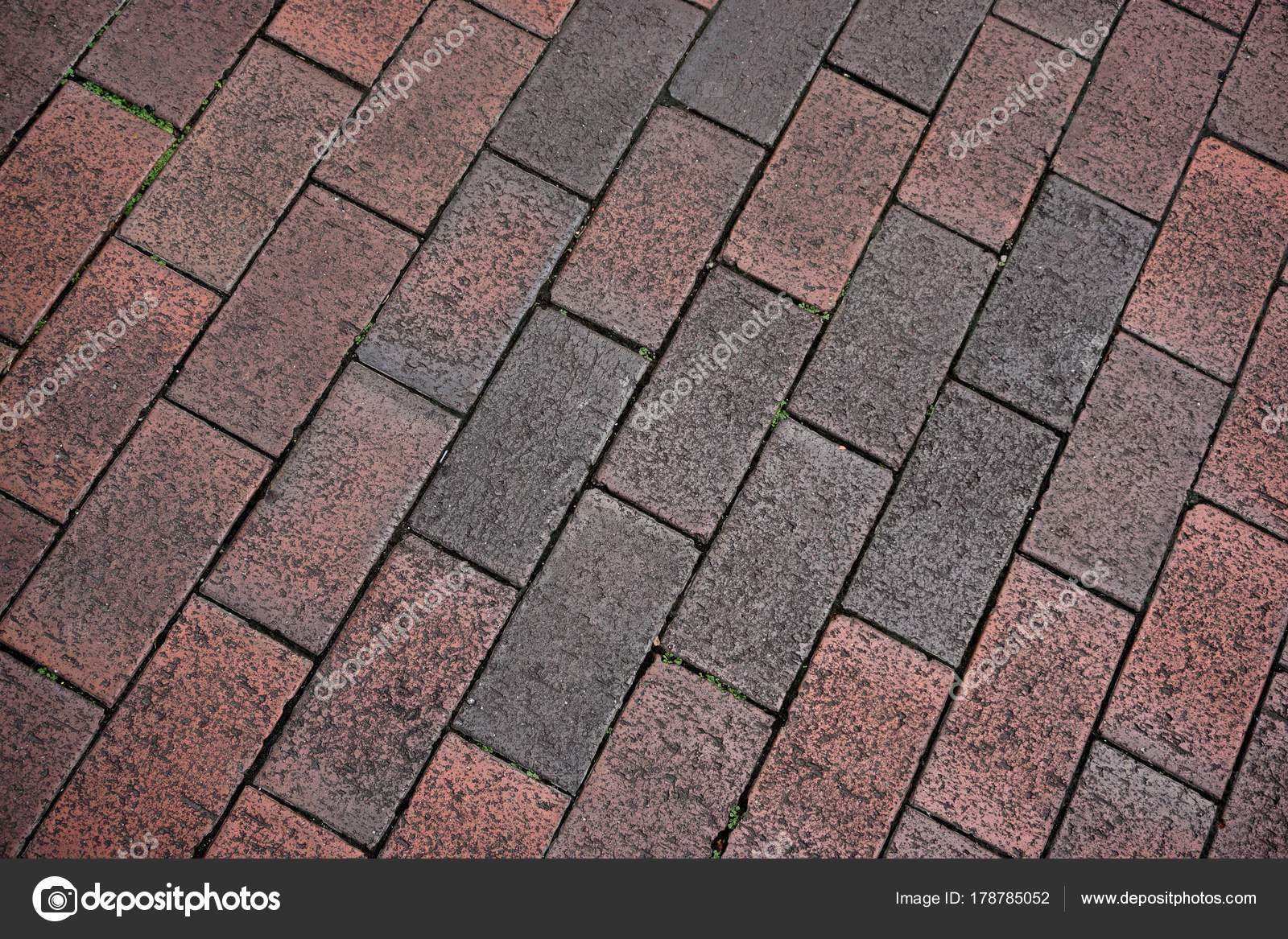 Red Dirty Brick Floor Texture Stock Photo