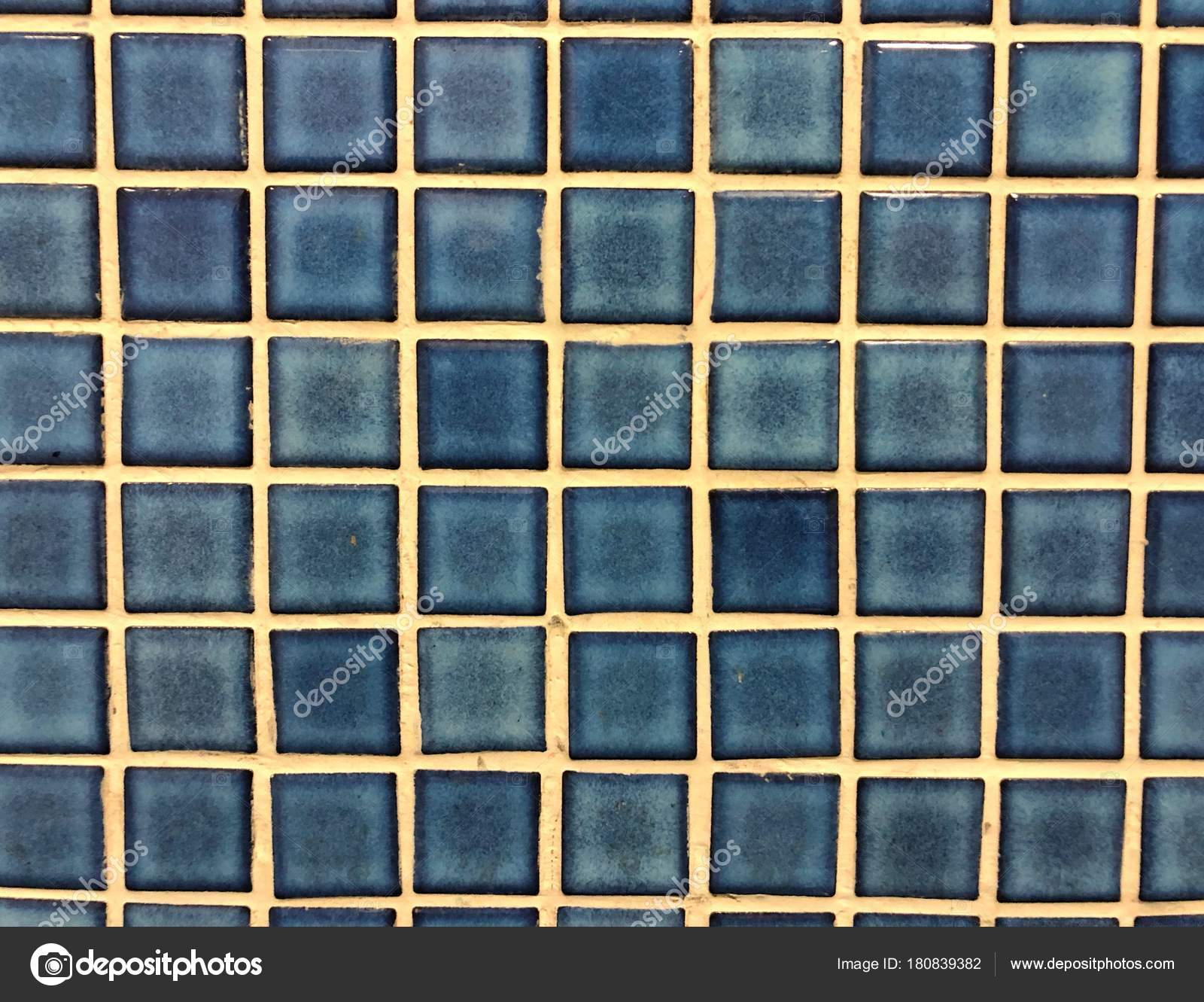 Blue Glossy Mosaic Tile Background Texture — Stock Photo ...