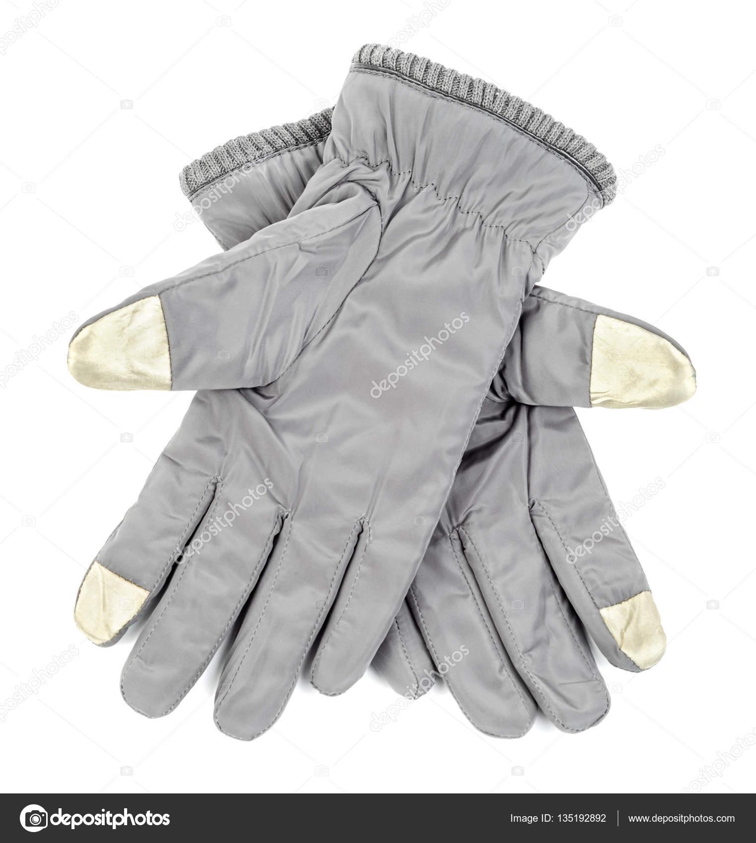 Zimní šedé rukavice pro dotykový displej 23993e7ee4