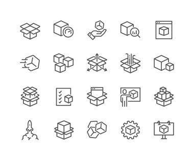 Line Abstract Product Icons