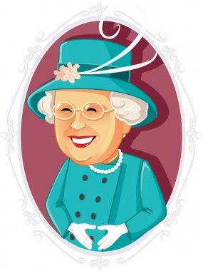 Queen Elizabeth II Editorial Vector Caricature