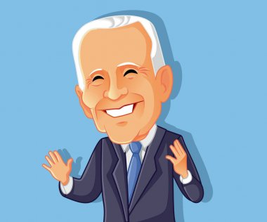 Washington USA, March 8, Joe Biden Vector Caricature