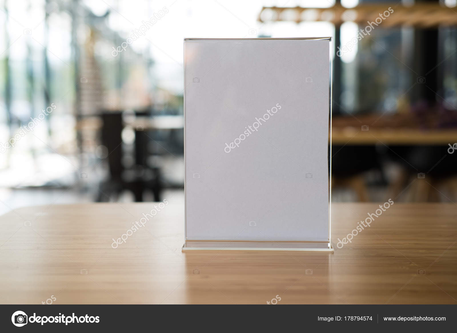 White Label In Cafe Display Stand For Acrylic Tent Card In Coff - Restaurant table tents and menu sign displays