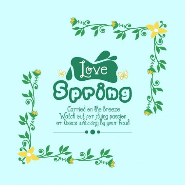 Seamless pattern of leaf and floral frame with modern style, for love spring greeting card concept. Vector