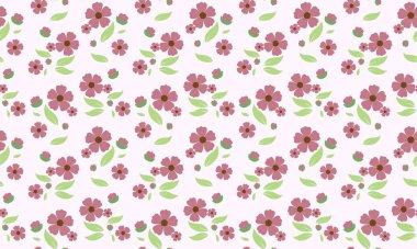 Simple spring floral pattern background, with leaf and floral elegant design.