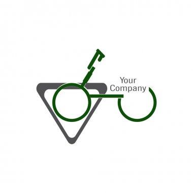 bicycle icon vector illustration logo template. bike logo. sport icon